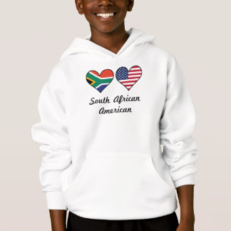 South African American Flag Hearts Hoodie
