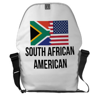 South African American Flag Messenger Bag