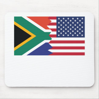 South African American Flag Mouse Pad