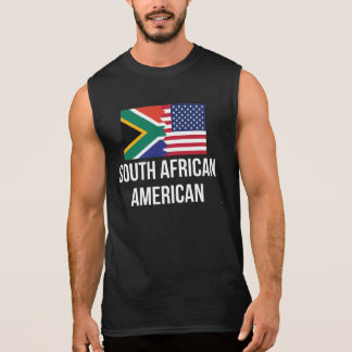 South African American Flag Sleeveless Tee
