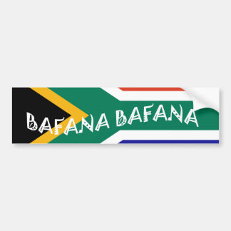SOUTH AFRICAN BAFANA FLAG BUMPER STICKERS