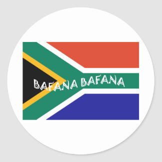 SOUTH AFRICAN BAFANA FLAG CLASSIC ROUND STICKER