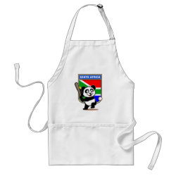 Apron with South Africa Baseball Panda design