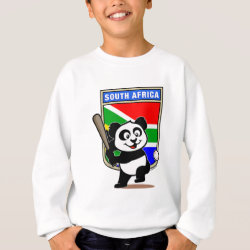 Kids' American Apparel Organic T-Shirt with South Africa Baseball Panda design
