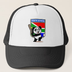 Trucker Hat with South Africa Baseball Panda design