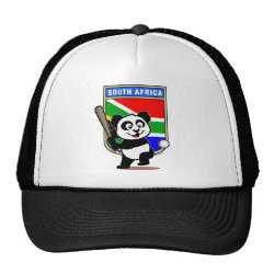 Trucker Hat with South Africa Baseball Panda design