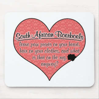 South African Boerboel Paw Prints Dog Humor Mousepads