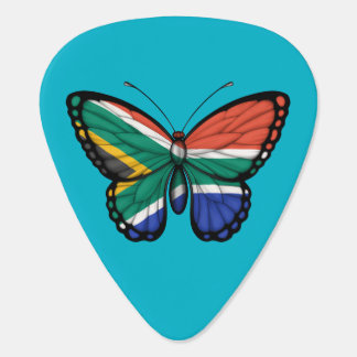 South African Butterfly Flag Guitar Pick