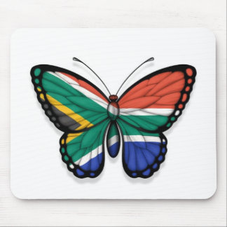 South African Butterfly Flag Mouse Pads
