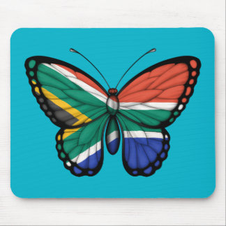 South African Butterfly Flag Mouse Pad