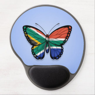 South African Butterfly Flag on Blue Gel Mouse Mats