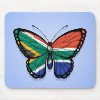 South African Butterfly Flag on Blue Mouse Pad