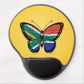 South African Butterfly Flag on Yellow Gel Mouse Pad