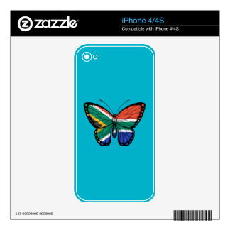 South African Butterfly Flag Decal For iPhone 4