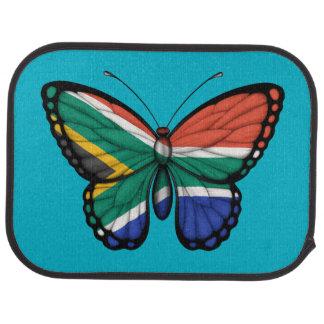 South African Butterfly Flag Floor Mat