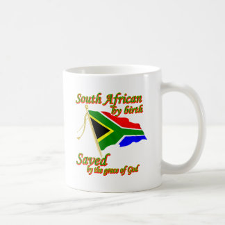 South African by birth saved by the grace of God Coffee Mug