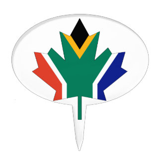 South African Canadian Cake Topper