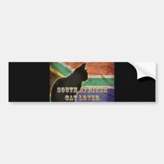 SOUTH AFRICAN CAT LOVER BUMPER STICKER