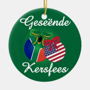 South African Christmas Ornament Ceramic
