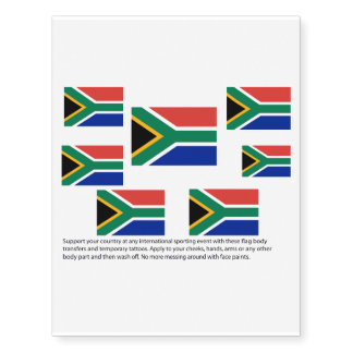 South African flag body transfers Temporary Tattoos