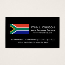 South African Flag Business Card