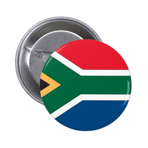 South African Flag Pinback Buttons
