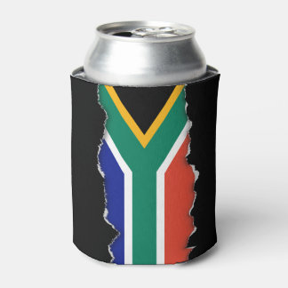 South African Flag Can Cooler