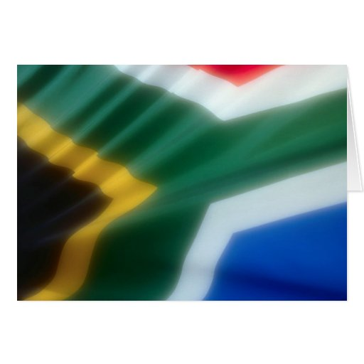 South African Flag Card