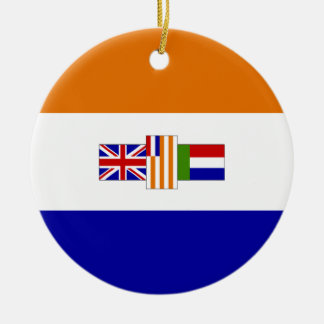 South African Flag Ceramic Ornament