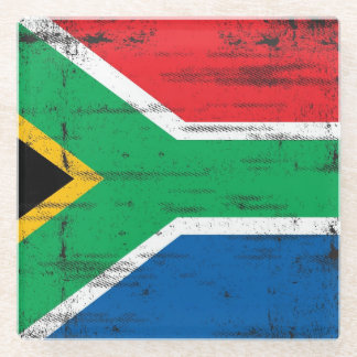 South African flag Glass Coaster