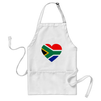 South African Flag Heart Aprons
