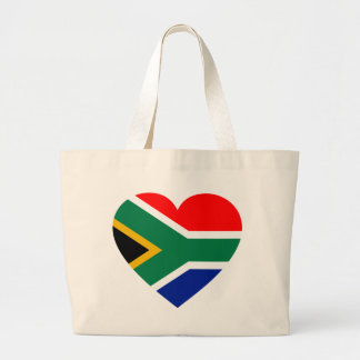 South African Flag Heart Tote Bag