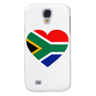 South African Flag Heart Galaxy S4 Cover
