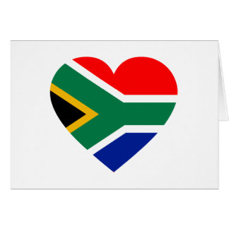 South African Flag Heart Greeting Card
