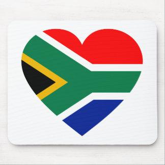 South African Flag Heart Mousepads