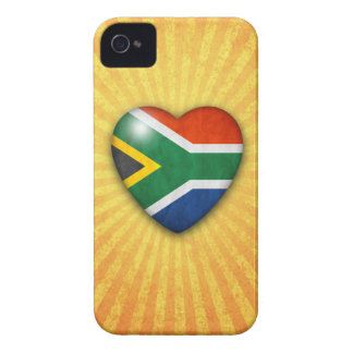South African Flag Heart on sunburst background iPhone 4 Case-Mate Case
