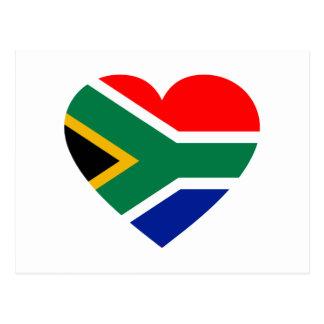 South African Flag Heart Postcard