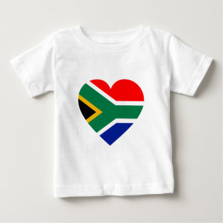 South African Flag Heart Tee Shirt