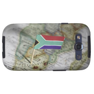 South African flag in map Samsung Galaxy S3 Case