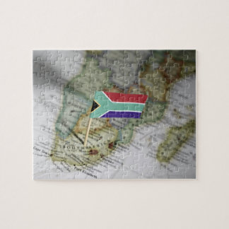 South African flag in map Jigsaw Puzzle