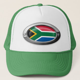 South African Flag in Steel Frame Trucker Hat