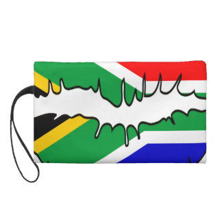 South African Flag Kiss Bagettes Bag Wristlet