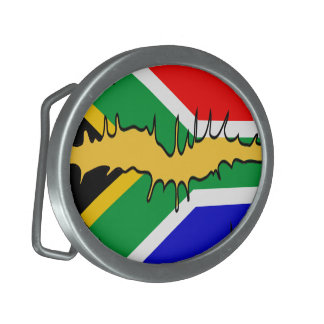 South African Flag Kiss Belt Buckle