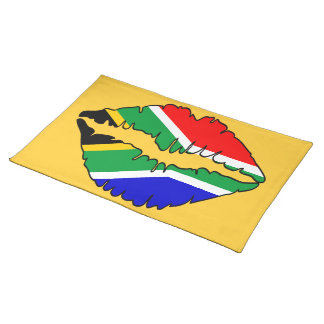 South African Flag Kiss MoJo Placemats