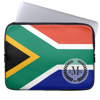 South African Flag Laptop Computer Sleeves