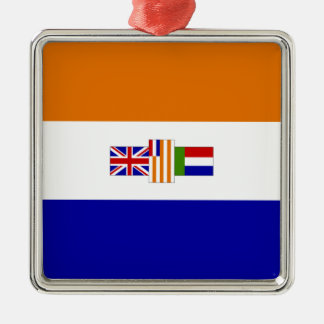 South African Flag Metal Ornament