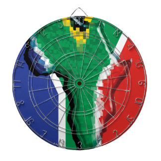 South african flag on Africa patriotic Dartboards