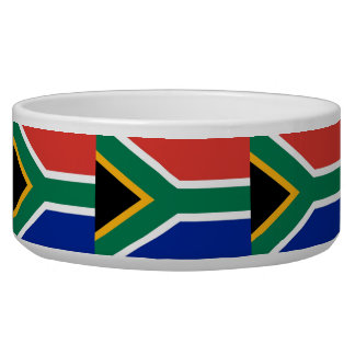 South African Flag Pet Bowl