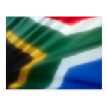 South African Flag Postcard