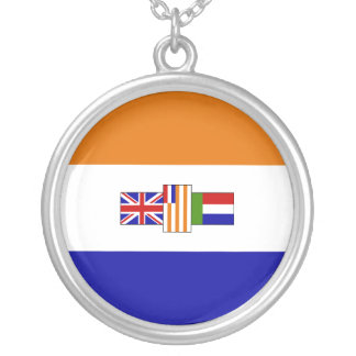 South African Flag Round Pendant Necklace